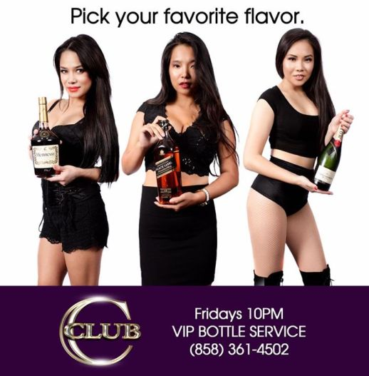 VIP bottle service Club C